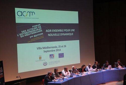 1er forum acteurs entrepreneuriat Méditerranée  - ACIM - Marseille 25 & 26 septembre 2014